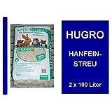 Hugro Hanfeinstreu 2 x 100 Liter Nagerstreu Naturstreu
