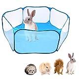 Faltbares Kleintierkäfigzelt, 47,2 ', atmungsaktiver und transparenter Heimtierlaufstall, offener...