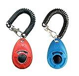 OYEFLY Hunde Clicker, Klicker mit Großem Knopf,2 Stück Hunde Klicker Set für Hundetraining...