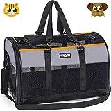 Songwin Hundetasche, Hundebox, faltbar Hundetransportbox Auto Transporttasche für...