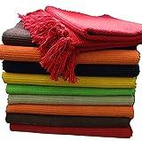 GMMH Fleckerlteppich Baumwolle Handweb Teppich Flickenteppich Fleckerl Handwebteppich (60 x 90 cm,...