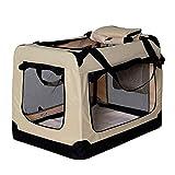 dibea Hundetransportbox Hundetasche Hundebox Faltbare Kleintiertasche Größe S Farbe Beige