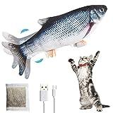 PiAEK Elektrisches Spielzeug Fisch, Bewegung Elektrisches realistisches Fisch Katzenminzenspielzeug,...