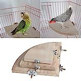 dairyshop Pet Parrot Holz Plattform Ständer Rack Spielzeug Hamster Ast Sitzstangen für Vogelkäfig...