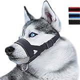 ILEPARK Maulkorb aus Nylon um Hunde vom Beisen, Bellen und Kauen abzuhalten, anpassbare Schlinge...
