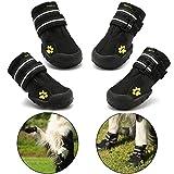 Royalcare Hundeschuhe Pfotenschutz, wasserdicht mit Anti-rutsch Sole passend für mittlere und...