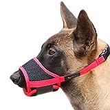 HEELE Nylon-Maulkorb Für Hunde, Verstellbare Schlaufe, Atmungsaktiv, Sicherer, Schneller Sitz Für...