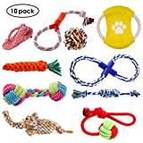 pedy Hundespielzeug Set,Hundeseile, interaktives Spielzeug,Pet Rope Spielzeug,mit verschiedenen...