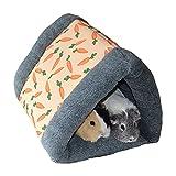 Rosewood 19616 Snuggles Snuggle 'n' Sleep Tunnel Mit Karotten-Print Für Kaninchen, Meerschweinchen,...