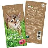 PRETTY KITTY Premium Katzengras Saatmischung: 1 Beutel mit 25g Katzengras Samen für 10 Töpfe...