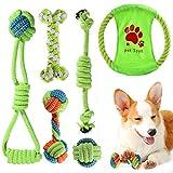 ACE2ACE Kleines Hundespielzeug Set, Welpen Kauspielzeug, Hundeseil, Spielzeug für kleine Hunde und...