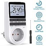 RATEL Digitale Elektronische Zeitschaltuhr Steckdose, 10 Programmierbarer Plug-In-Timer-Schalter mit...