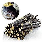 EAGLESTIME 1 Beutel Apfelholz Kauen Stöcke Zweige für Kaninchen Hamster Meerschweinchen